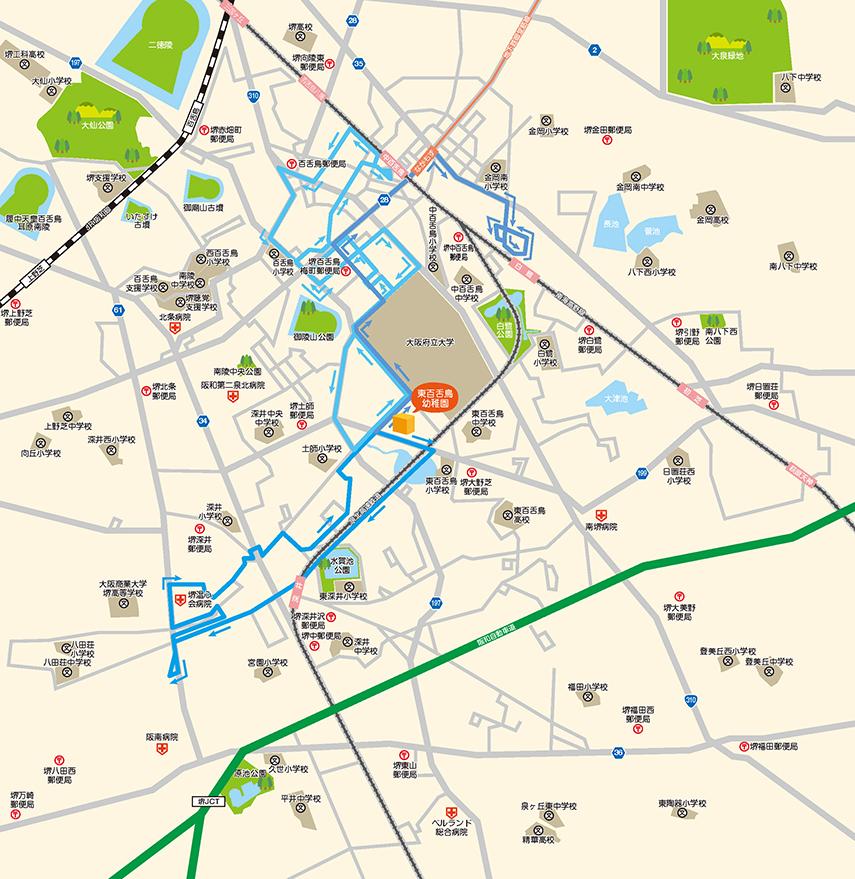 青バスのコースルート