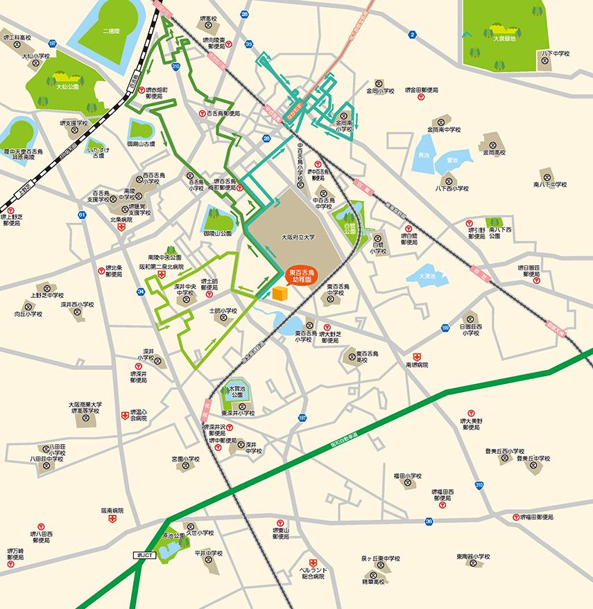 緑バスのコースルート