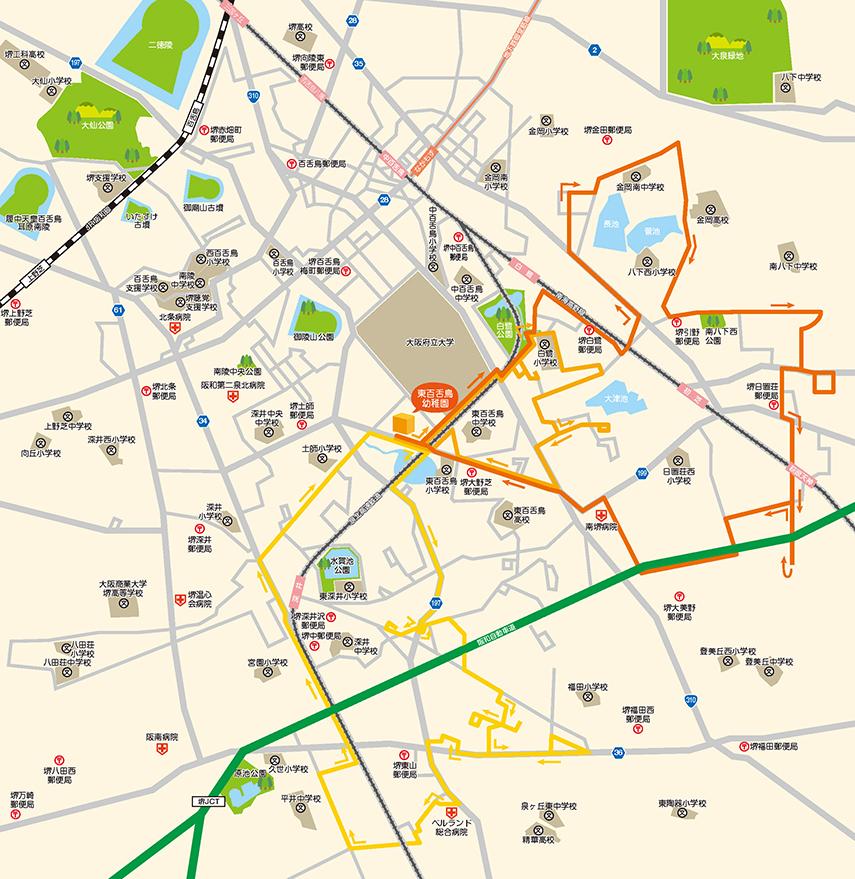 黄バスのコースルート